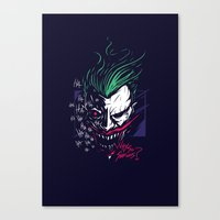 joker Canvas Prints featuring Joker by Steven Toang
