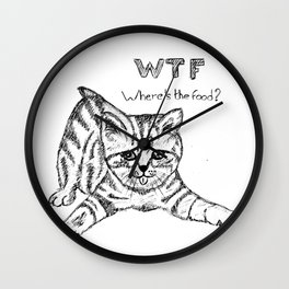 Where's the food? Wall Clock
