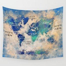 world map art 138 #map #world Wall Tapestry