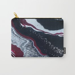Alabama or South Carolina Paint Pour (Garnett, Black, Maroon, White) Carry-All Pouch
