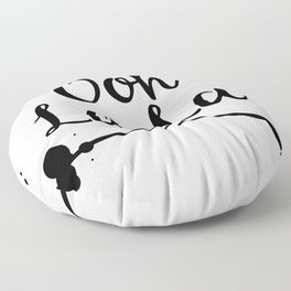 Oh La La inky text. Floor Pillow