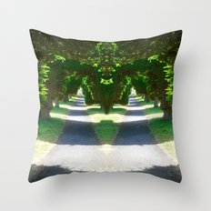 Two Paths Diverge Throw Pillow