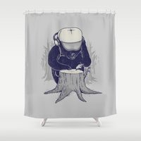 dj Shower Curtains featuring Hey DJ by Alex Solis