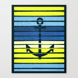 Anchor - beach theme summer tropical nautical home decor dorm decor beach life surfing boating art Canvas Print