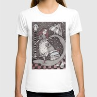 jon snow T-shirts featuring Alice's First Snow by Judith Clay