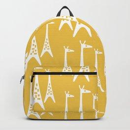 Mid Century Modern Giraffe Pattern 225 Yellow Backpack