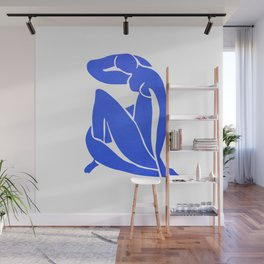 BLUE MATISSE CUT OUT Wall Mural
