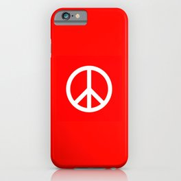 Sketch Peace Sign iPhone Case