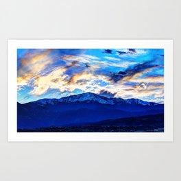 Pikes Peak Art Print
