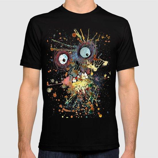 shocked in reverse T-shirt