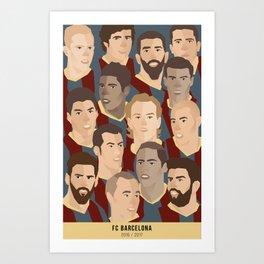 FC BARCELONA 2016 / 2017 Art Print