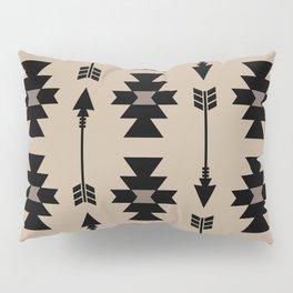 Southwestern Arrow Pattern 232 Black and Beige Pillow Sham