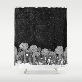 Shugs Forest Shower Curtain