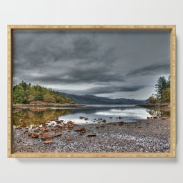 Beautiful landscape Argyll in Scotland Serving Tray