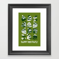 Elf Owls (monochromatic) Framed Art Print