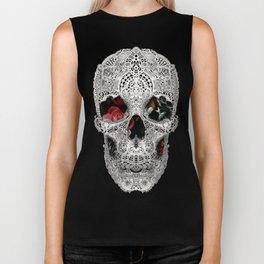 Lace Skull Light Biker Tank