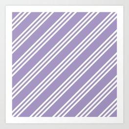 Lavender Large Small/Small Stripes Art Print