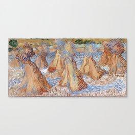 Vincent van Gogh Sheaves of Wheat Canvas Print