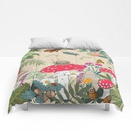 Toadstools in the Woods Comforters