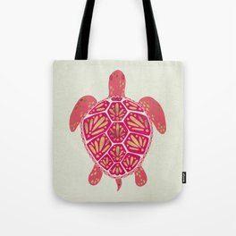 Sea Turtle in Pink & Gold Tote Bag