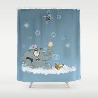 bath Shower Curtains featuring Bath by Glenn Melenhorst