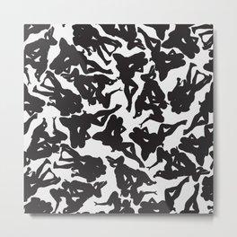 3 Silhouettes Metal Print