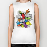 cartoons Biker Tanks featuring Cartoons Attack by luis pippi