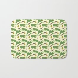 Fun Frogs with Leaves from Trees Bath Mat