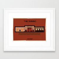 stanley kubrick Framed Art Prints featuring The shining_ Directed by Stanley Kubrick by federico babina