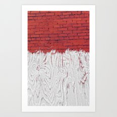 Bleached Brick Art Print