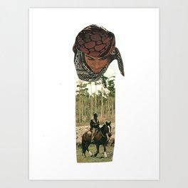 Man riding a horse Art Print
