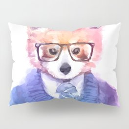 Cute fashion hipster animals pets red panda Pillow Sham