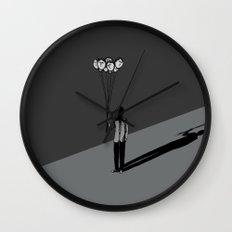 The Black Balloon Wall Clock