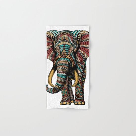 Ornate Elephant (Color Version) Hand & Bath Towel
