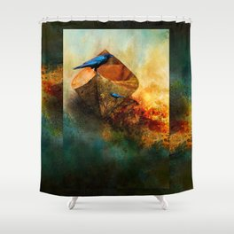 Beached Crow Shower Curtain
