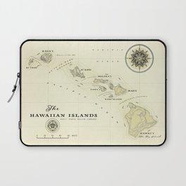 Hawaiian Islands [vintage inspired] map print Laptop Sleeve