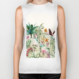 Blooming in the cactus Biker Tank