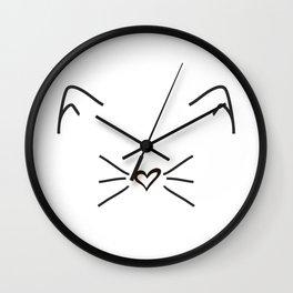 Cute Cat #society6 #decor #buyart #artprint Wall Clock