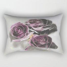 Dark Roses Rectangular Pillow