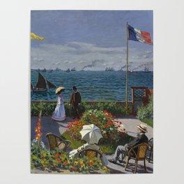 Garden at Sainte-Adresse Poster