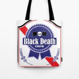 Black Death Ribbon (Color) Tote Bag