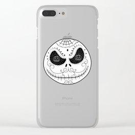 Jack's Skull Sugar (Vector Mexican Skull) Clear iPhone Case