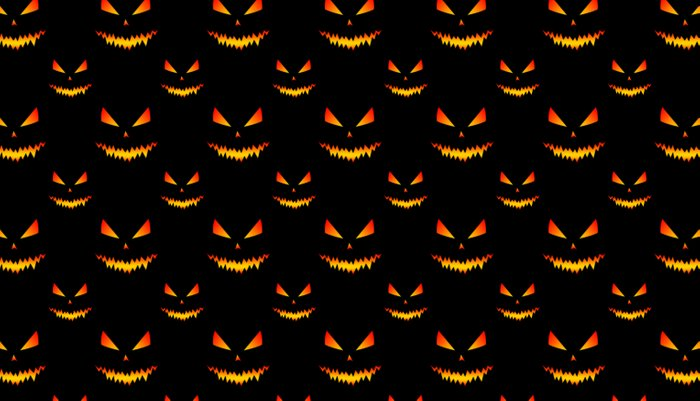 Cool scary Jack O\'Lantern face Halloween pattern Pillow Sham by ...