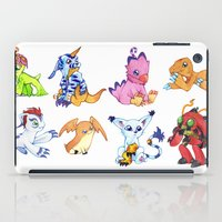 digimon iPad Cases featuring Digimon Group by Catus