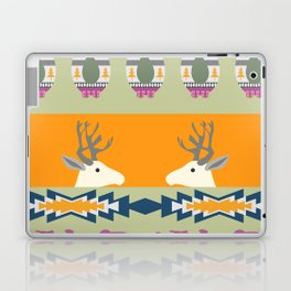 Colorful Christmas pattern with deer and bears Laptop & iPad Skin