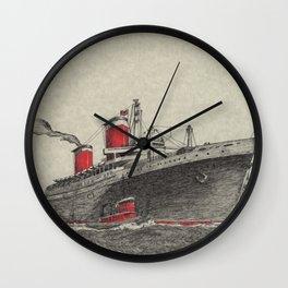Steam Ship, New York Harbor Wall Clock