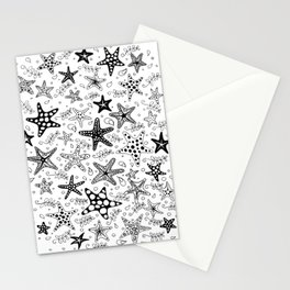 Stars of the Sea BW Stationery Cards