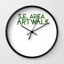 Portland's 2 Day Self-Guided Tour of Art! Wall Clock