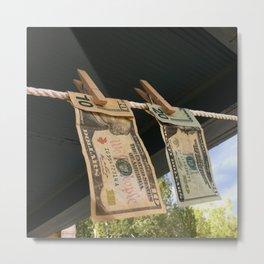 Hanging to Dry Metal Print