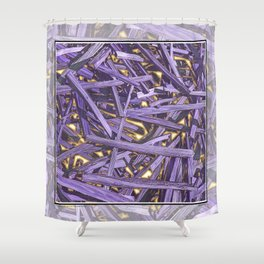 PURPLE KINDLING AND GLOWING EMBERS ABSTRACT Shower Curtain